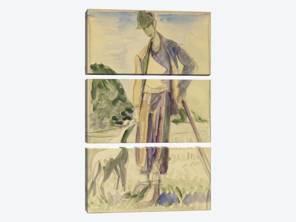 The Herdsman (Der Hirte) by Ernst Ludwig Kirchner 3-piece Canvas Wall Art