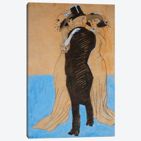 La Flatterie, 1908  Canvas Print #BMN5772} by Juan Gris Art Print