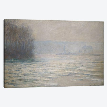 Floods on the Seine near Bennecourt (Debacle, La Seine pres Bennecourt), 1893  Canvas Print #BMN5774} by Claude Monet Canvas Art