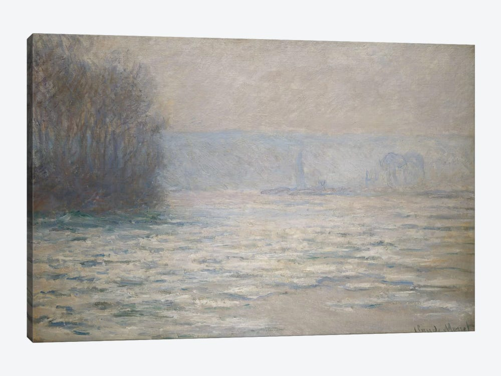 Floods on the Seine near Bennecourt (Debacle, La Seine pres Bennecourt), 1893  by Claude Monet 1-piece Canvas Art Print