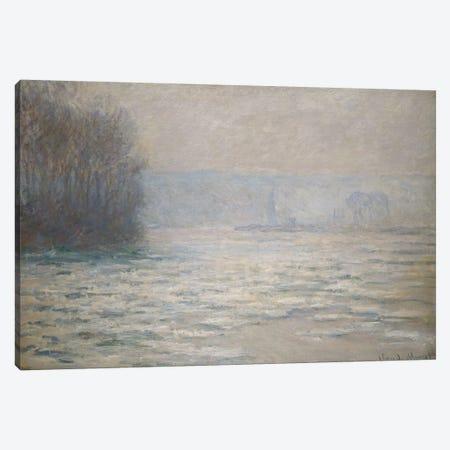 Floods on the Seine near Bennecourt (Debacle, La Seine pres Bennecourt), 1893  Canvas Print #BMN5774} by Claude Monet Canvas Art