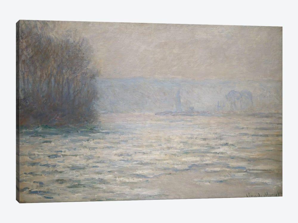 Floods on the Seine near Bennecourt (Debacle, La Seine pres Bennecourt), 1893  by Claude Monet 1-piece Canvas Art Print