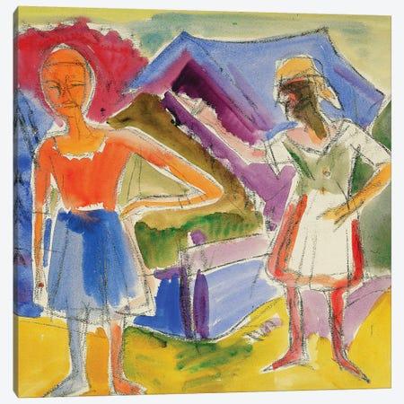 Two Figures (Zwei Gestalten) Canvas Print #BMN5775} by Ernst Ludwig Kirchner Canvas Artwork