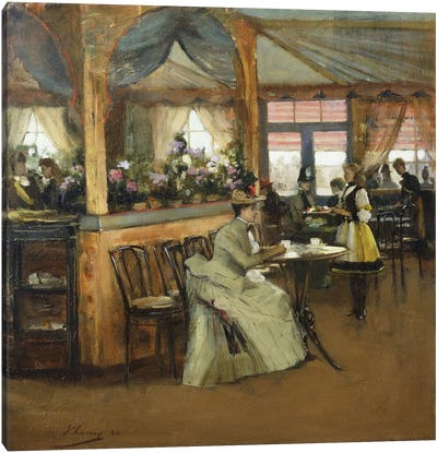 A Cup of Chocolate, 1888  Canvas Art Print
