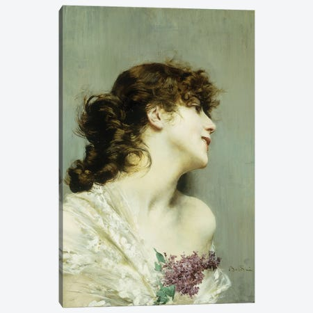 Profile of a Young Woman Canvas Print #BMN5778} by Giovanni Boldini Canvas Art Print