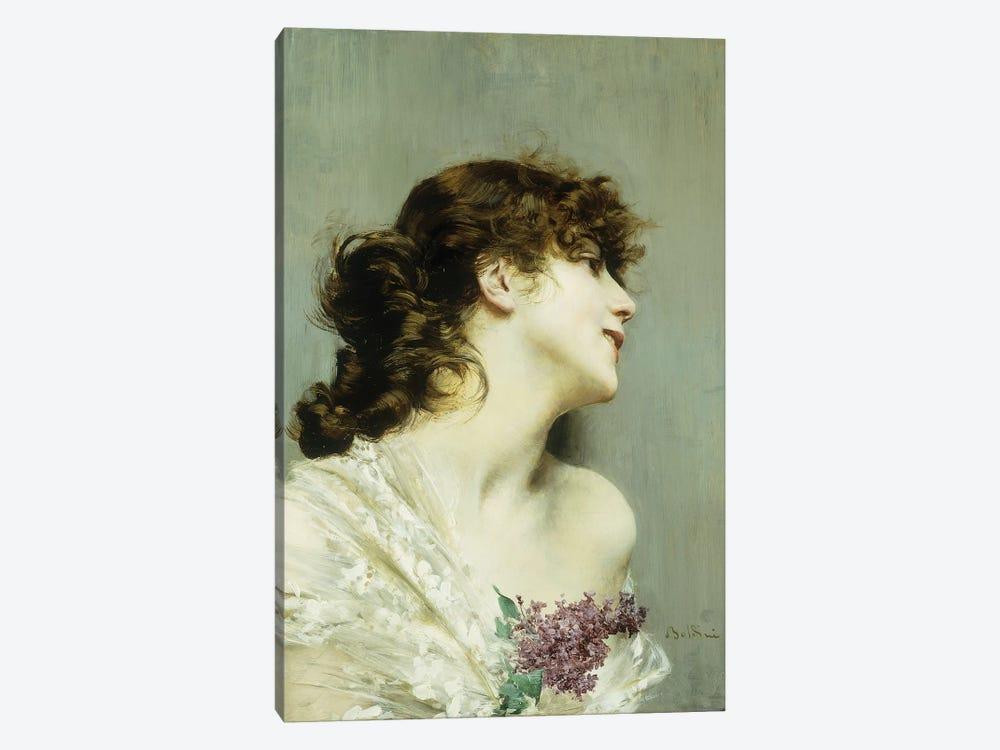 Profile of a Young Woman by Giovanni Boldini 1-piece Canvas Art Print
