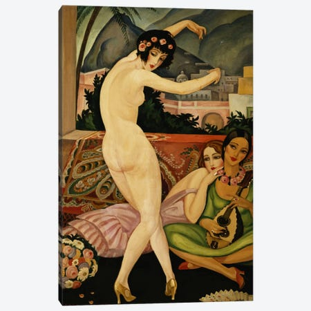 The Dancer (La Danseuse) Canvas Print #BMN5779} by Gerda Marie Frederike Wegener Art Print