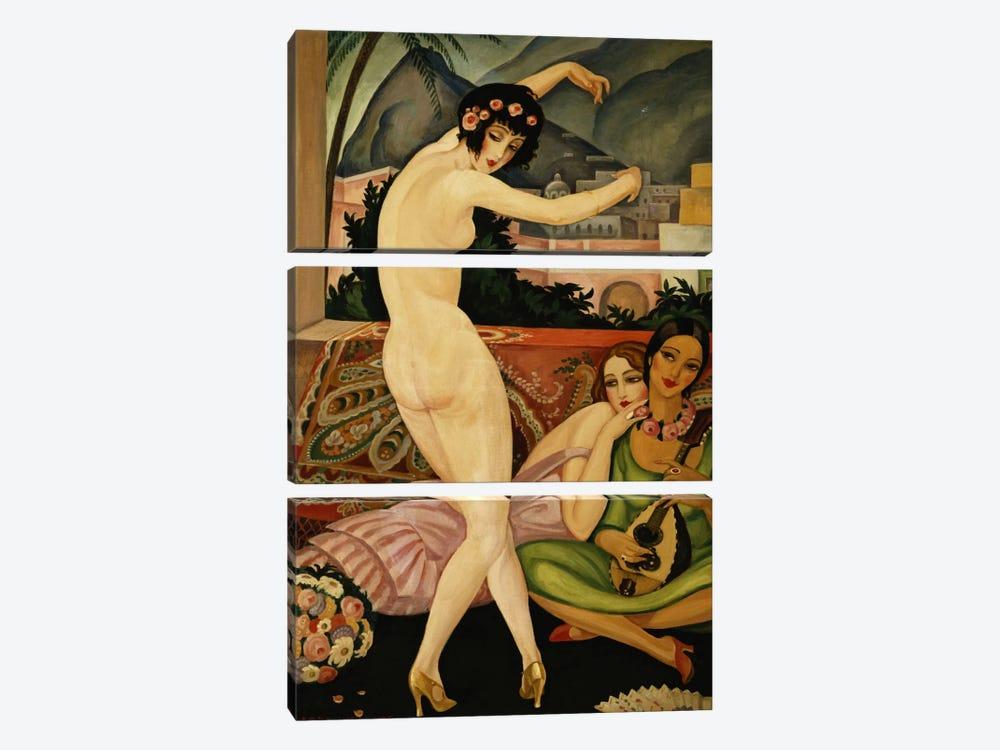 The Dancer (La Danseuse) by Gerda Marie Frederike Wegener 3-piece Canvas Artwork