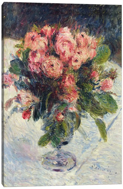 Moss-Roses, c.1890 Canvas Art Print