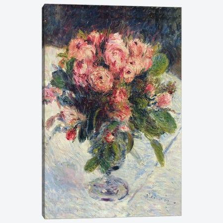 Moss-Roses, c.1890  3-Piece Canvas #BMN577} by Pierre-Auguste Renoir Canvas Art Print