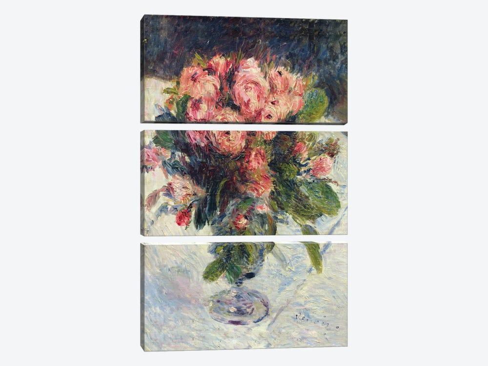 Moss-Roses, c.1890  by Pierre-Auguste Renoir 3-piece Art Print