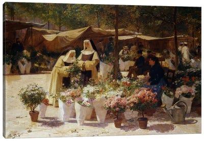 The Flower Market Canvas Print #BMN5780