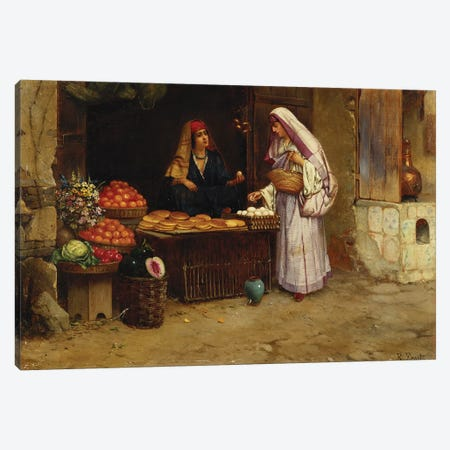 The Market Stall,  Canvas Print #BMN5783} by Rudolphe Ernst Canvas Wall Art