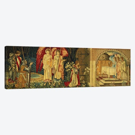 The Achievement of the Holy Grail by Sir Galahad, Sir Bors and Sir Percival,  3-Piece Canvas #BMN5784} by Sir Edward Coley Burne-Jones Art Print