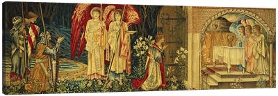 The Achievement of the Holy Grail by Sir Galahad, Sir Bors and Sir Percival,  Canvas Art Print