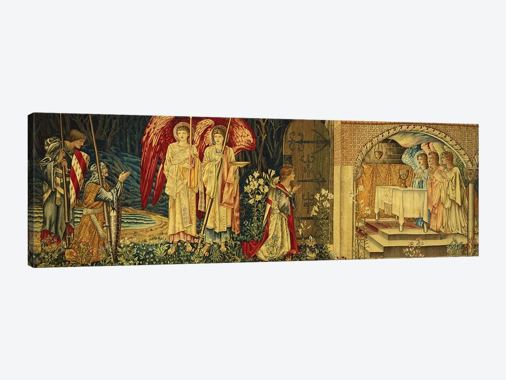 The Achievement of the Holy Grail by Sir Galahad, Sir Bors and Sir Percival,  by Sir Edward Coley Burne-Jones 1-piece Canvas Art