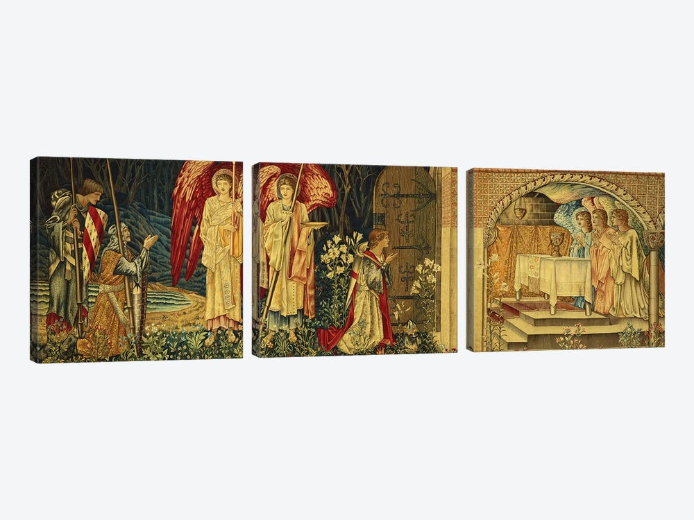 The Achievement of the Holy Grail by Sir Galahad, Sir Bors and Sir Percival,  by Sir Edward Coley Burne-Jones 3-piece Canvas Artwork