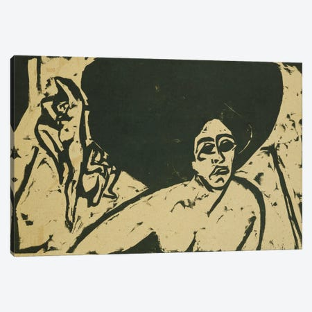 Nude Dancers (Nackte Tanzerinnen), 1909  Canvas Print #BMN5787} by Ernst Ludwig Kirchner Canvas Art Print