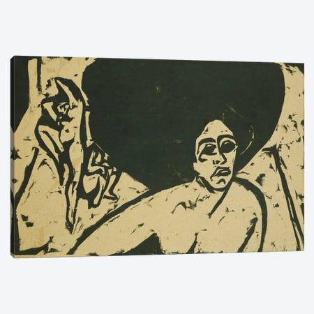 Nude Dancers (Nackte Tanzerinnen), 1909  Canvas Print #BMN5787} by Ernst Ludwig Kirchner Canvas Art Print