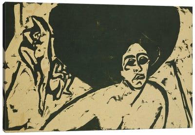 Nude Dancers (Nackte Tanzerinnen), 1909  Canvas Art Print