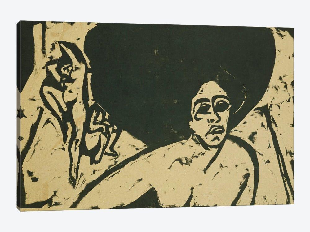 Nude Dancers (Nackte Tanzerinnen), 1909  by Ernst Ludwig Kirchner 1-piece Canvas Art Print