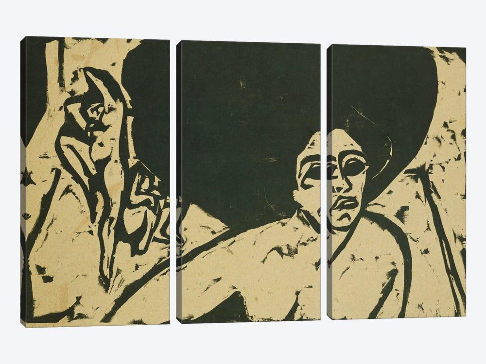Nude Dancers (Nackte Tanzerinnen), 1909  by Ernst Ludwig Kirchner 3-piece Art Print