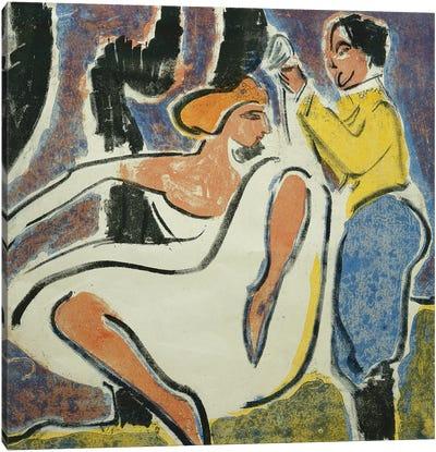 Russian Couple Dancing (Russisches Tanzerpaar), 1909  Canvas Art Print