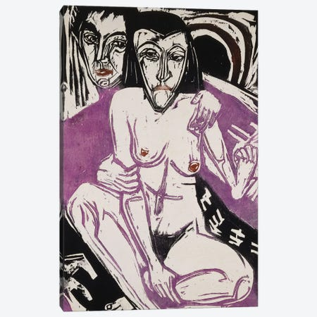 Melancholy Girl (Melancholisches Madchen), 1922  Canvas Print #BMN5789} by Ernst Ludwig Kirchner Canvas Artwork