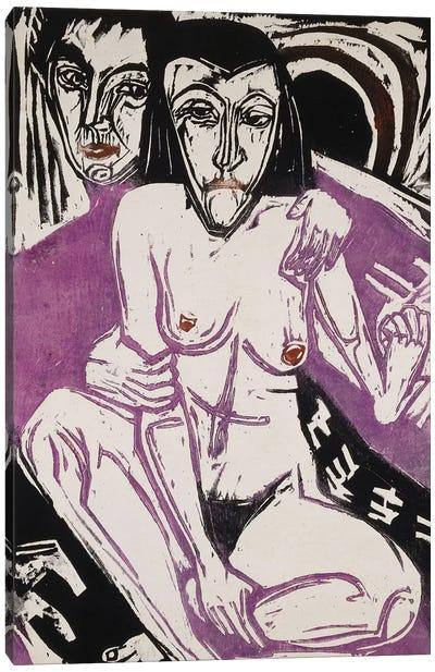 Melancholy Girl (Melancholisches Madchen), 1922  Canvas Art Print
