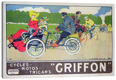 Griffon Cycles, Motos & Tricars Advertisement Canvas Art Print