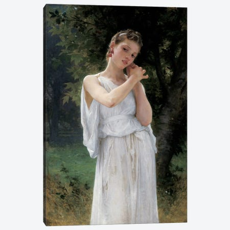 Earrings, 1889-90  Canvas Print #BMN5797} by William-Adolphe Bouguereau Canvas Wall Art