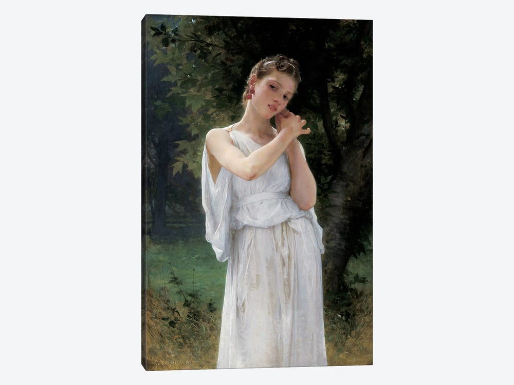Earrings, 1889-90 by William-Adolphe Bouguereau 1-piece Canvas Art