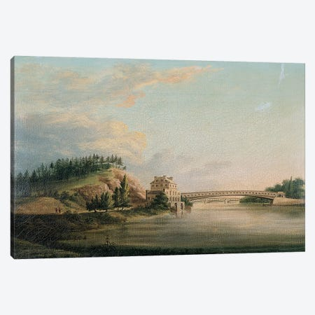 View of a bridge over the Schuylkill River, c.1815  Canvas Print #BMN5798} by William Strickland Canvas Art Print