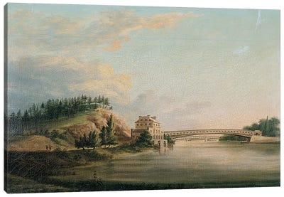 View of a bridge over the Schuylkill River, c.1815  Canvas Art Print