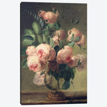 Vase of Flowers  Canvas Print #BMN579} by Pierre Redoute Canvas Art