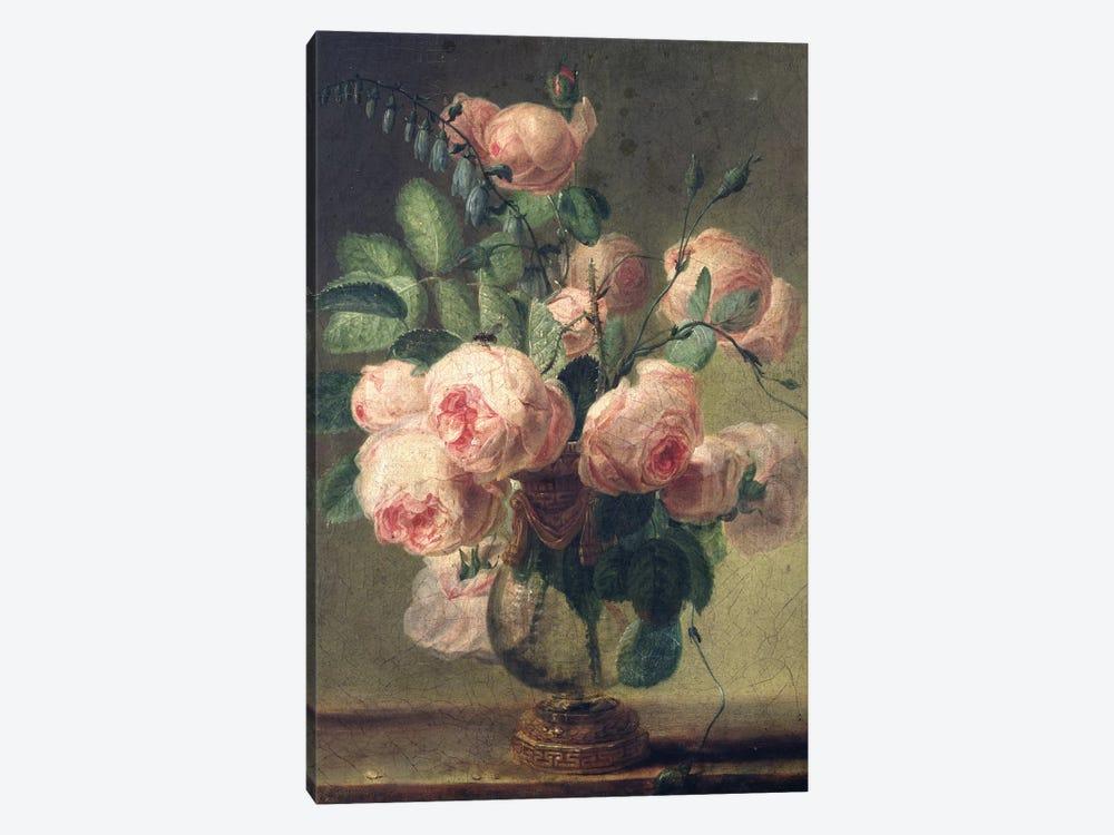 Vase of Flowers  by Pierre-Joseph Redouté 1-piece Canvas Art Print