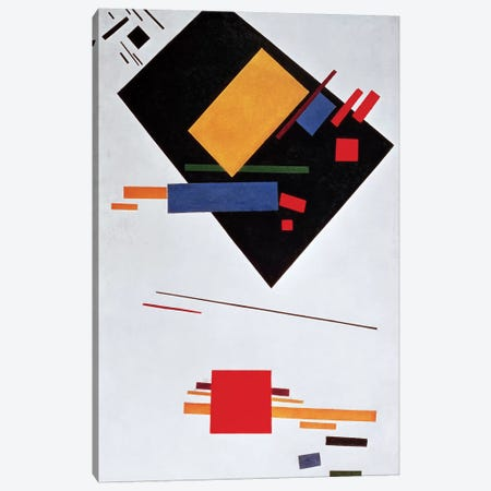 Suprematist Composition, 1915 (oil on canvas) Canvas Print #BMN57} by Kazimir Severinovich Malevich Canvas Wall Art