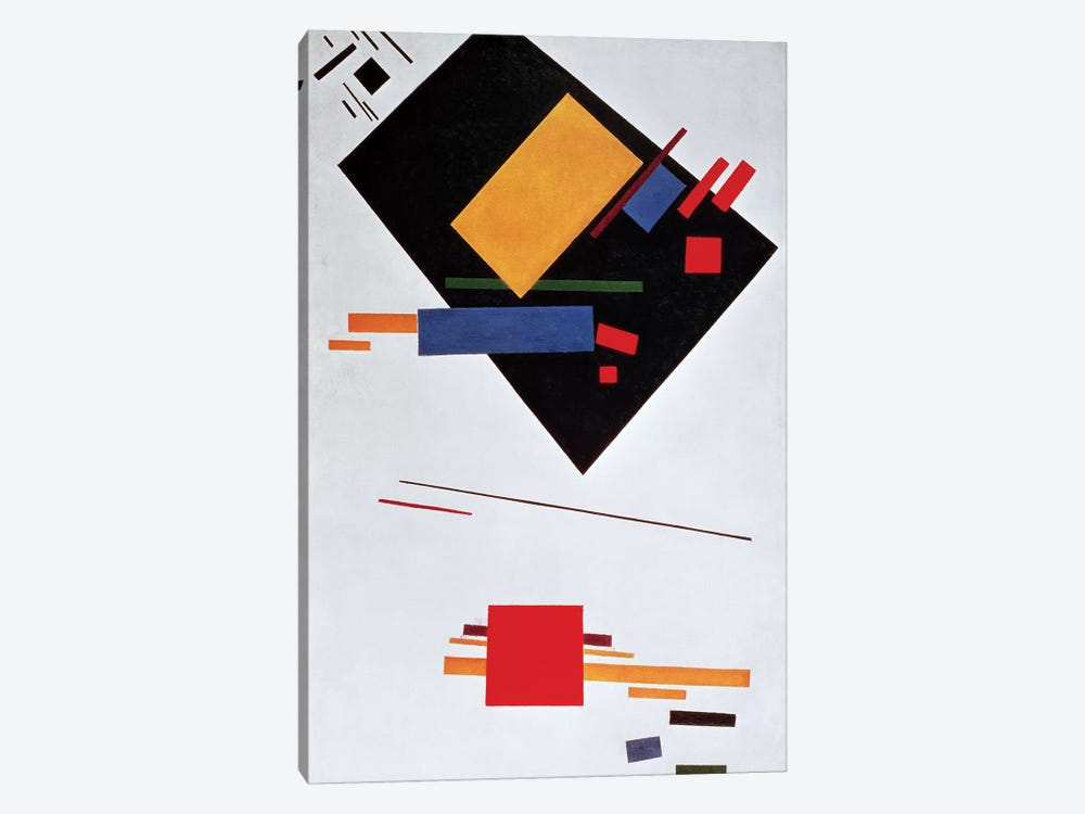 Suprematist Composition, 1915 (oil on canvas) by Kazimir Severinovich Malevich 1-piece Canvas Art