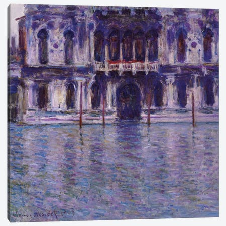 The Contarini Palace, 1908  Canvas Print #BMN5802} by Claude Monet Canvas Print