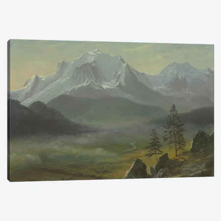 Mont Blanc  Canvas Print #BMN5806} by Albert Bierstadt Canvas Art