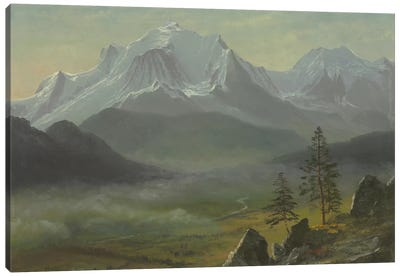 Mont Blanc by Albert Bierstadt Canvas Art