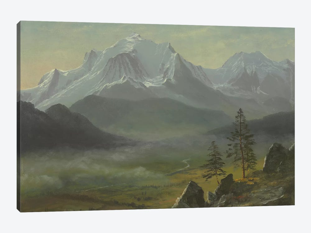 Mont Blanc  by Albert Bierstadt 1-piece Canvas Art