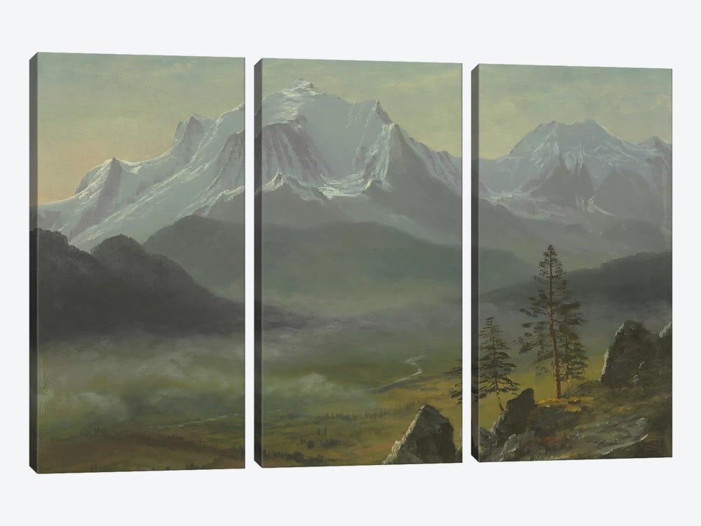 Mont Blanc  by Albert Bierstadt 3-piece Canvas Art