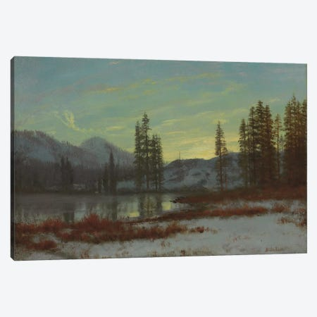 Snow in the Rockies  Canvas Print #BMN5808} by Albert Bierstadt Art Print