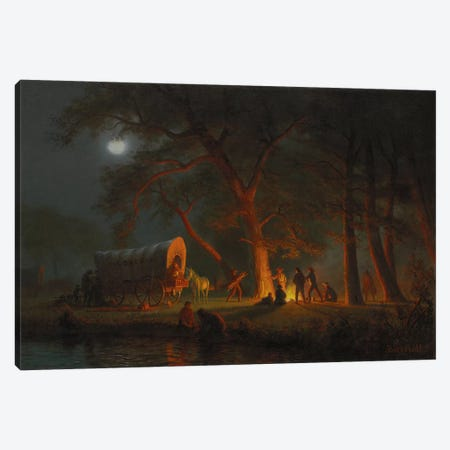 Oregon Trail  Canvas Print #BMN5809} by Albert Bierstadt Art Print