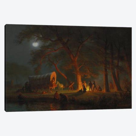 Oregon Trail  Canvas Print #BMN5809} by Albert Bierstadt Art Print