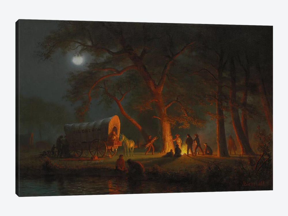 Oregon Trail  by Albert Bierstadt 1-piece Art Print