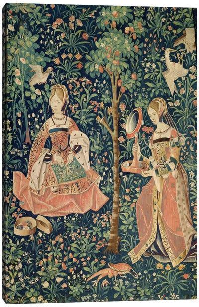La Vie Seigneuriale: Embroidery, c.1500  Canvas Art Print