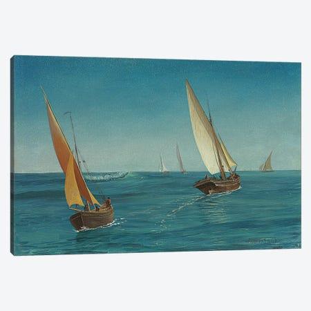 On the Mediterranean  Canvas Print #BMN5811} by Albert Bierstadt Canvas Wall Art