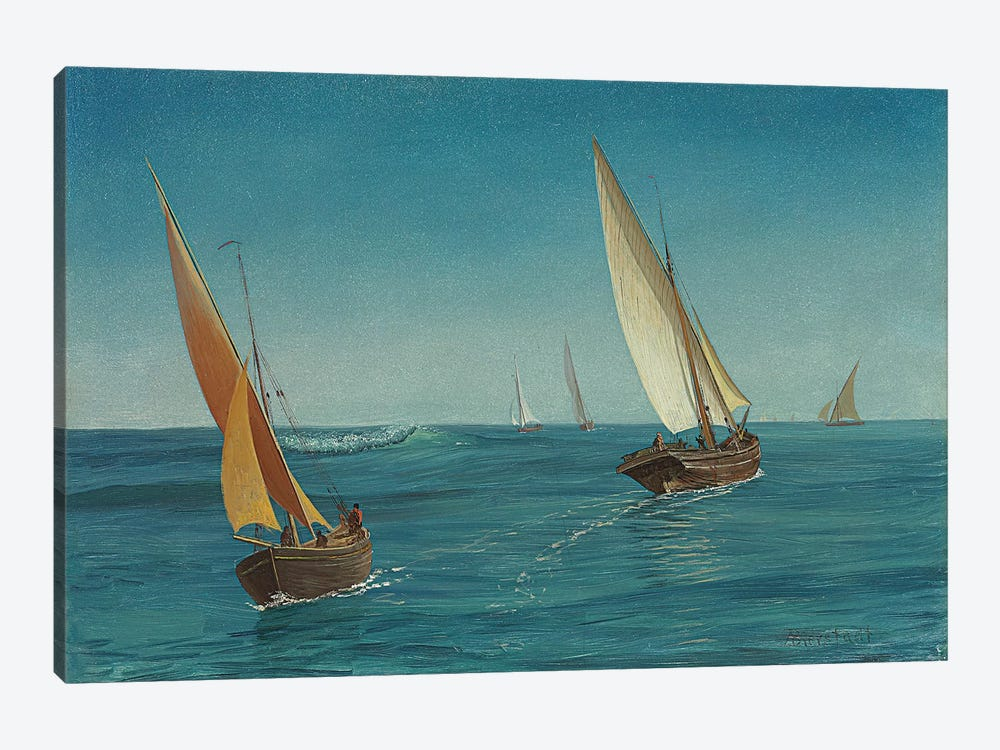 On the Mediterranean  by Albert Bierstadt 1-piece Canvas Wall Art